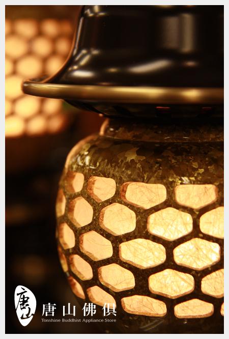 【唐山佛俱】結晶神社燈(聚財黃)結晶特寫