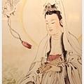 佛像佛聯畫像展示-名畫家真跡-水墨觀音系列之一(靜觀菩薩)