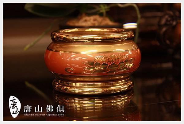 【唐山佛俱】3寸蓮花淨爐紅珊瑚色