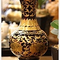 黑天球鎏金花瓶(8寸)