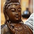 佛具神像雕刻-綠檀木精雕觀音1尺3