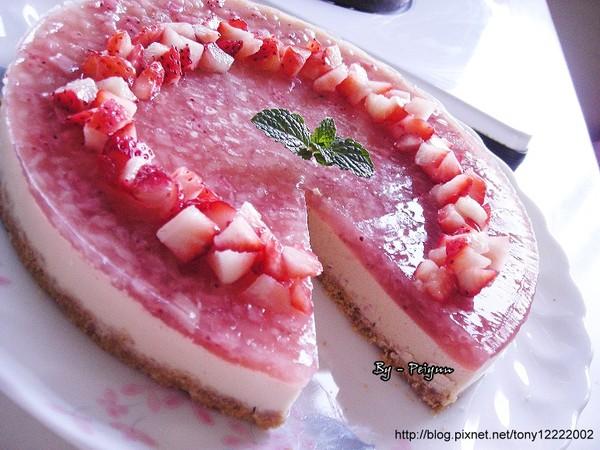 2008.01.04 草莓乳酪慕思果凍蛋糕(成品)5