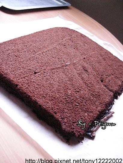 2008.01.26 巧克力蛋糕捲(半成品)