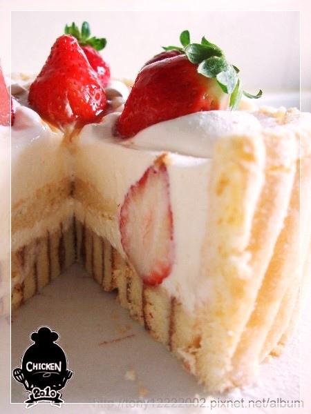 2010.01.02 Strawberry vanilla mousse with ladyfingers cake5.jpg