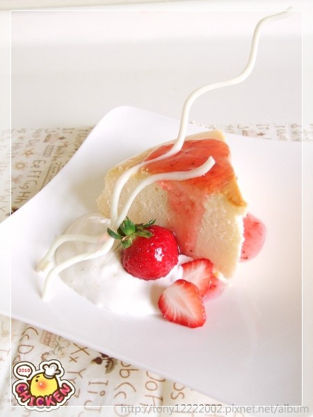 2010.01.30 Cheese cake with strewberry cream2.jpg