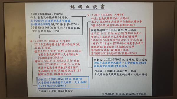 中埔466血統書