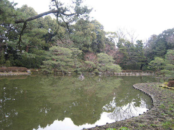 平安神宮神苑中的一個小池塘