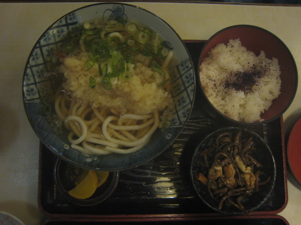 tonya妹的午餐-炸蝦烏龍麵定食