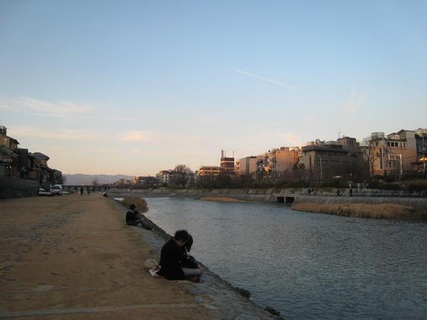 傍晚的鴨川