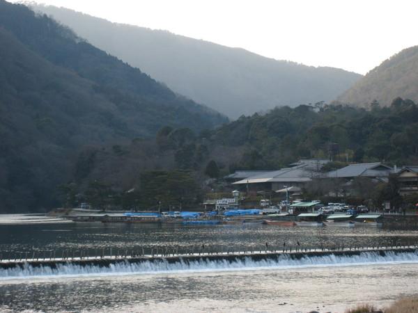 從渡月橋看嵐山