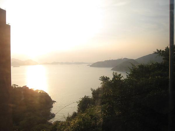 巴士上看淺水灣夕陽