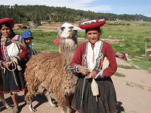 Inca Lady with Llama @ Saqsaywaman