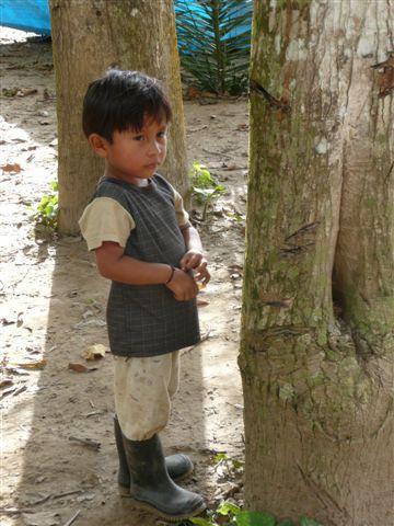 Native Amazonian kid @ Puerto Maldonado