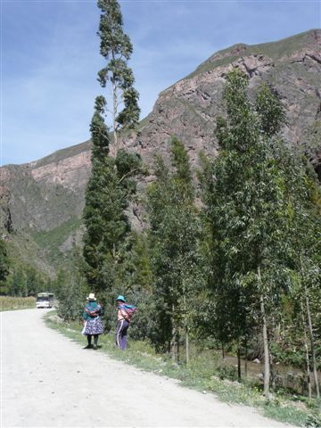 Country road at Sacred Valley