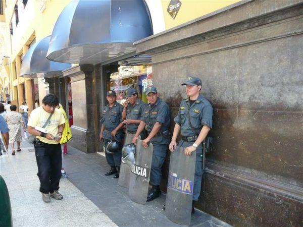 Police in Lima