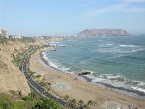 Miraflores beach at Lima