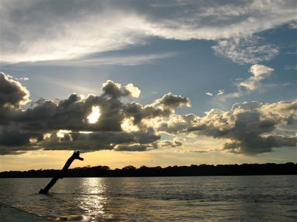 Sunset over Tambopata river 1
