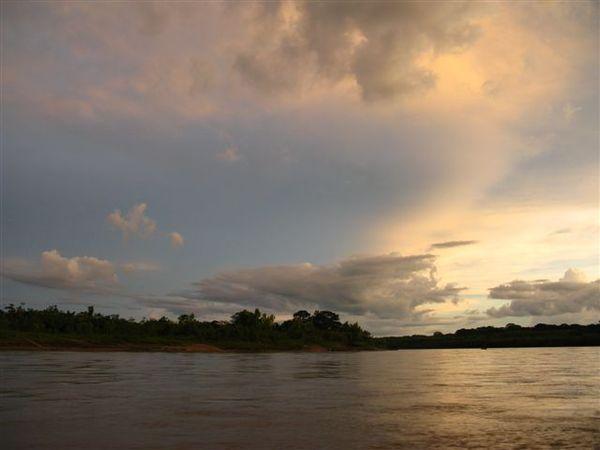 Sunset over Tambopata river 2