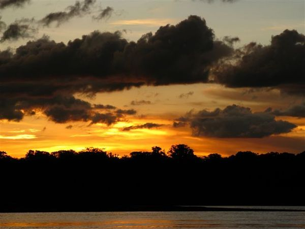 Sunset over Tambopata river 3