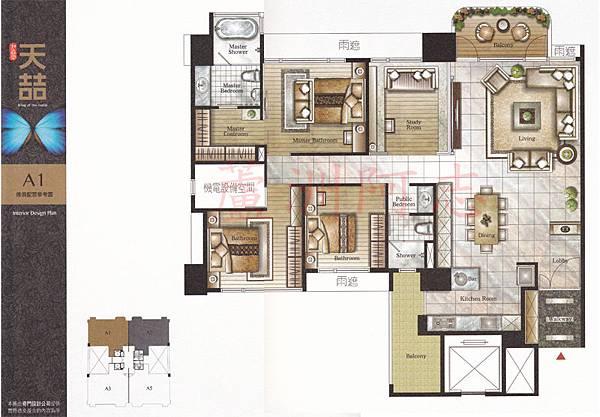 A1傢俱配置圖