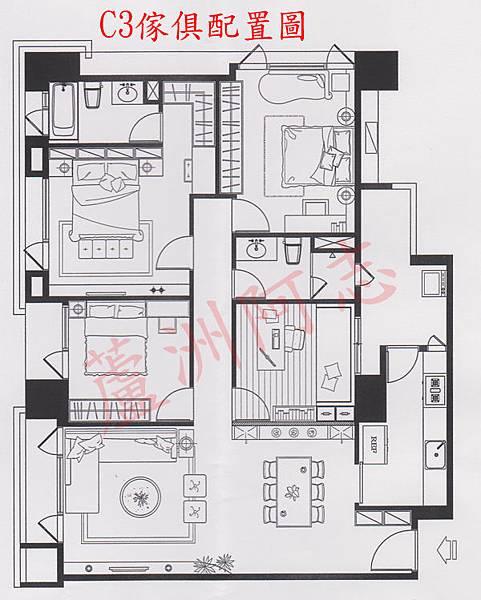 C3傢具配置圖