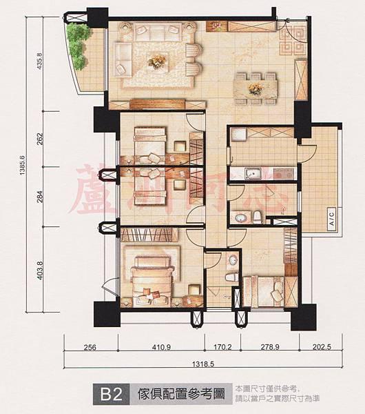 B2家具配置圖