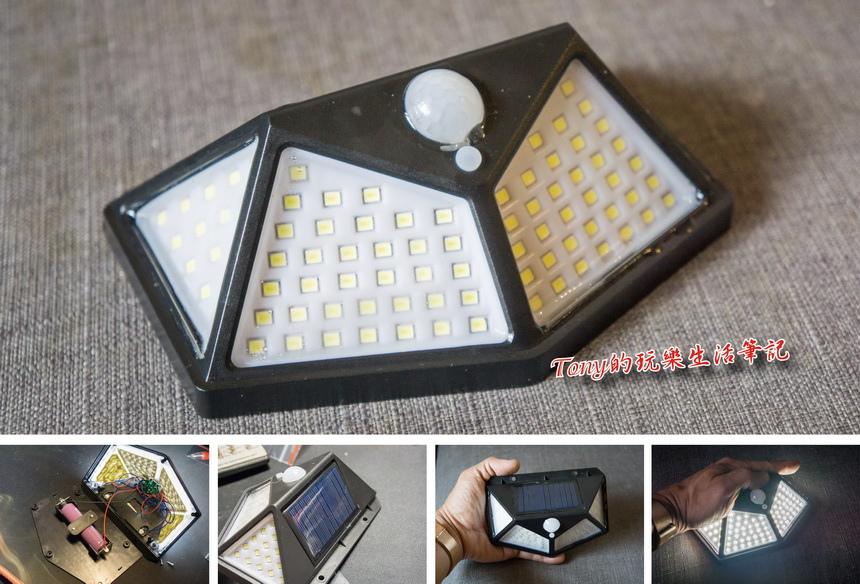 不怕黑暗來襲,居家都要有的自動感應照明燈-100燈太陽能自動感應燈