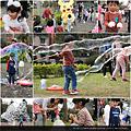 泡泡派對活動的體驗項目及泡泡表演的組合相片