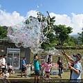 印象尖石露營區LOGOS楓露營泡泡派對 泡泡表演3