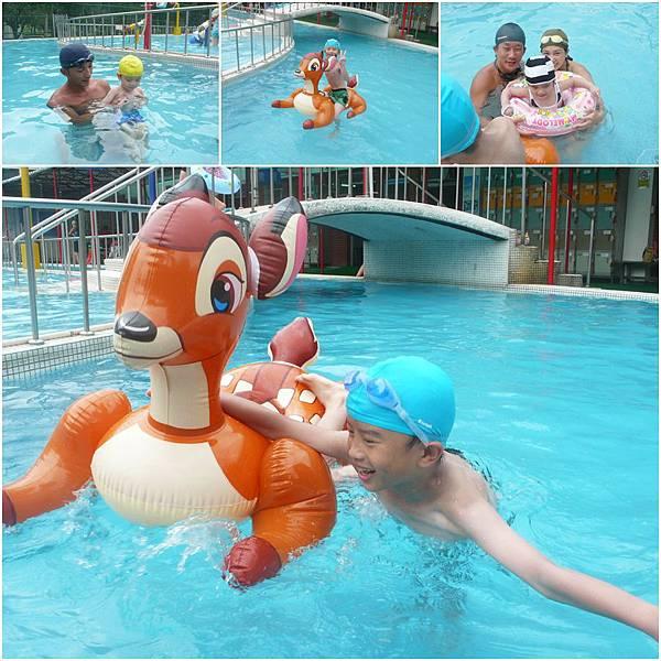 大湖公園游泳去