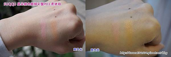 SUQQU 晶采絕色臉頰彩盤-手背試色.jpg
