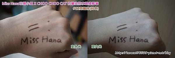Miss Hana花娜小姐 X CHOO CHOO CAT 抗暈染防水眼線膠筆 #02亮瞳棕(純色)-試色.jpg