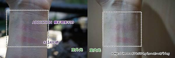 SUQQU晶采立體眼彩盤 114花明(右上色與ADDICTION 99色-比較照 1.jpg