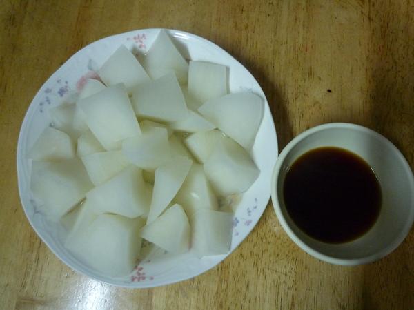 清蒸白蘿蔔