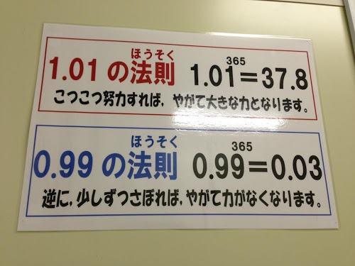 【勵志故事】1‧01 vs 0‧99 法則