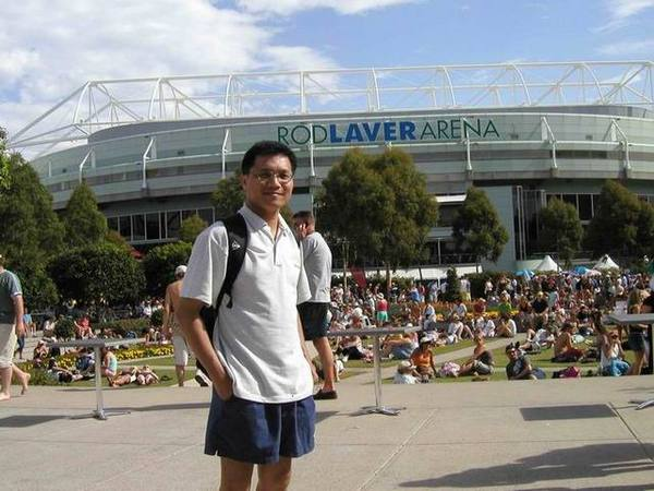 澳網的Rod Laver 球場外面的花園