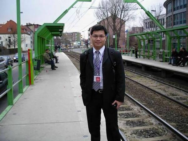 在漢諾威的電車站