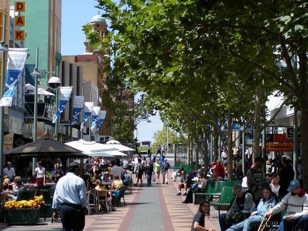 Hobart 最熱鬧的街頭