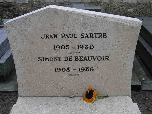 Sartre 與 Beauvoir 合葬在一起