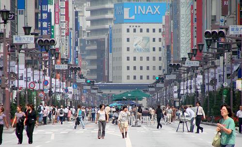 日本東京˙銀座步行者天國