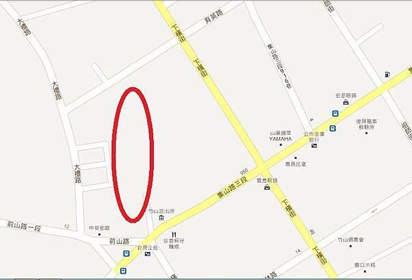 日式警察宿舍聚落就在紅圈處
