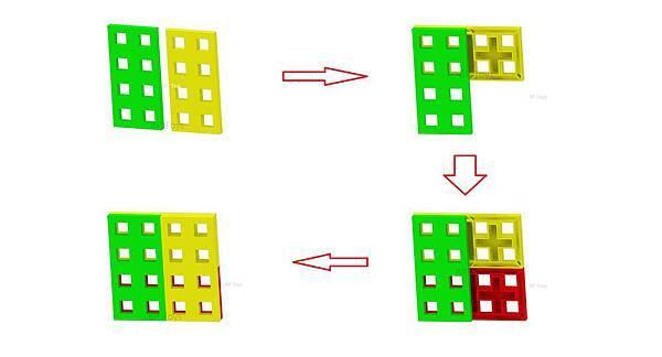 窗型積木組合圖
