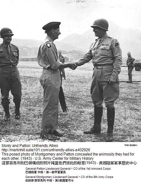 Generals George Patton and Bernard Montgomery 阿拉曼戰役 1943