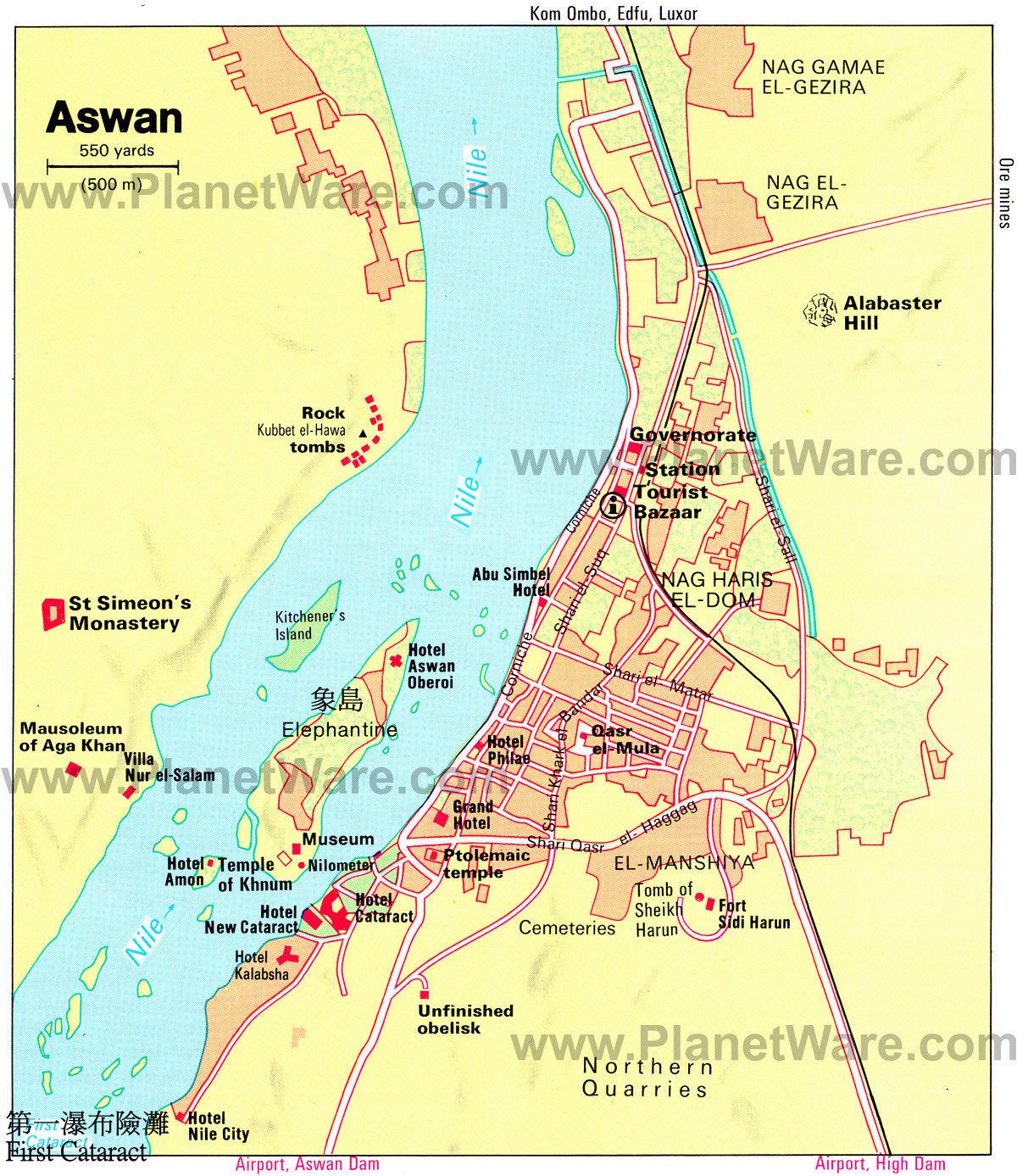 46. 阿斯旺象島地圖
