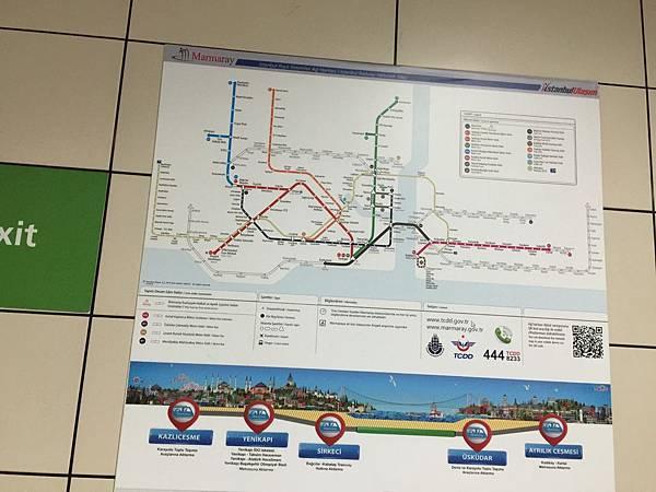 伊斯坦堡馬爾馬拉地鐵線示意圖