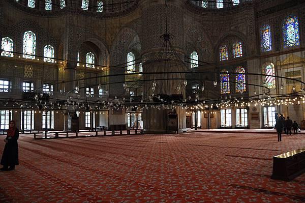 藍色清真寺的大殿