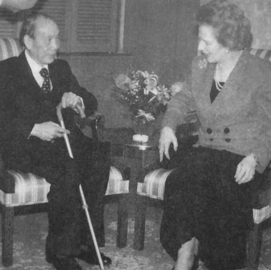 圖片8:英國首相柴契爾夫人在美國芝加哥會見劉放吾