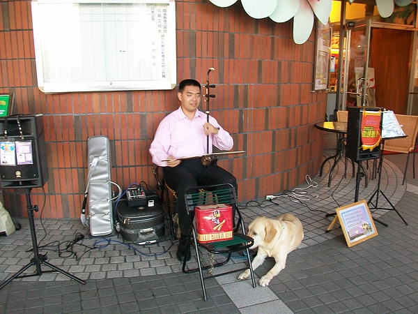 關西休息站視障表演者及Q拉拉