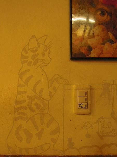 可愛牆壁塗鴨
