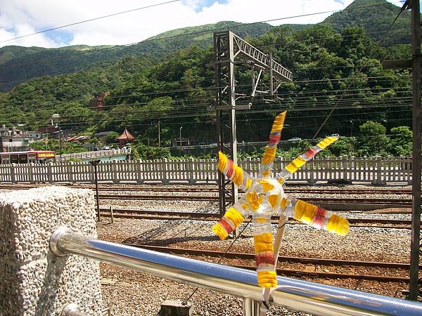 鐵道邊寶特瓶風車
